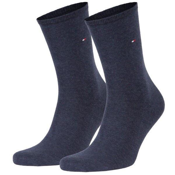 Tommy Hilfiger 2 pakkaus Women Classic Casual Socks - Blue  - Size: 371221 - Color: sininen