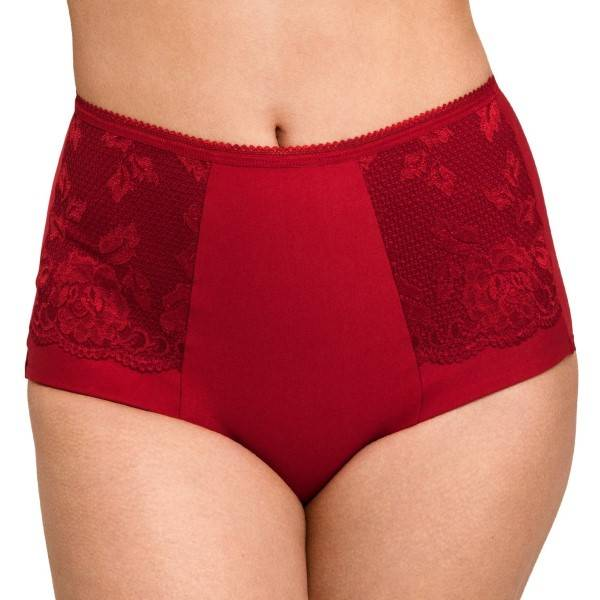 Miss Mary of Sweden Miss Mary Lovely Lace Girdle - Red  - Size: 4105 - Color: punainen