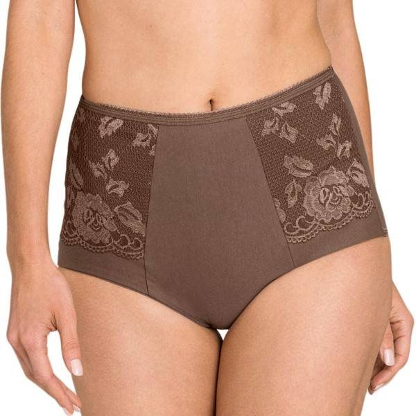 Miss Mary of Sweden Miss Mary Lovely Lace Girdle - Brown  - Size: 4105 - Color: ruskea
