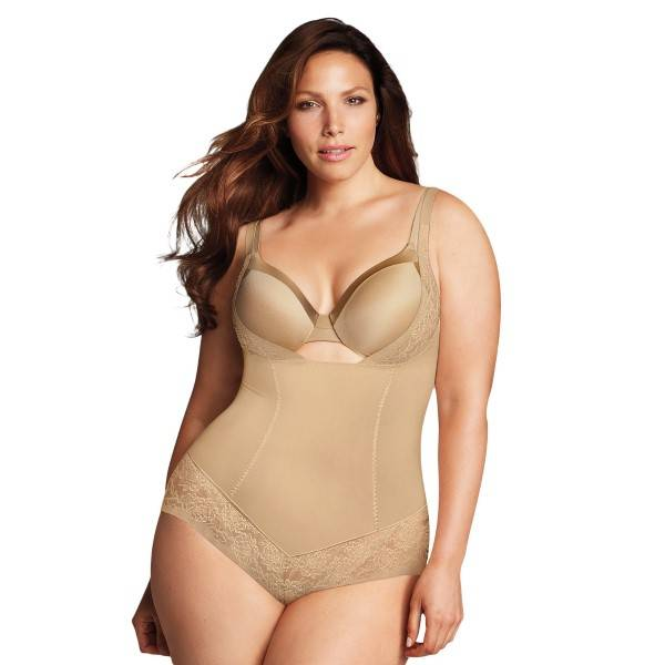 Maidenform Curvy Firm Foundations WYOB Bodybriefer - Beige  - Size: DM1025 - Color: Beige