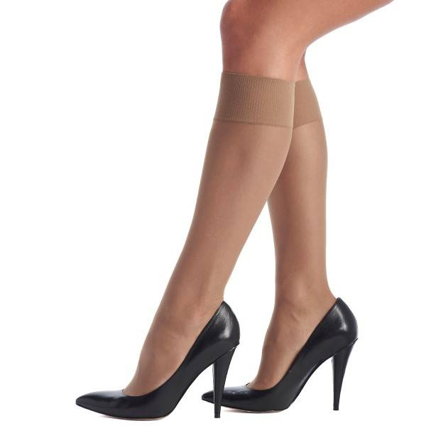 Oroblu Mi-Bas Jeune 20 Sheer Knee-Highs - Beige