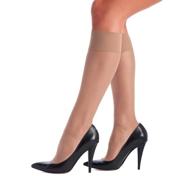 Oroblu Mi-Bas Jeune 20 Sheer Knee-Highs - Skin