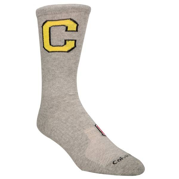 Image of Calvin Klein Omer Jeans Varsity Patch Socks - Grey