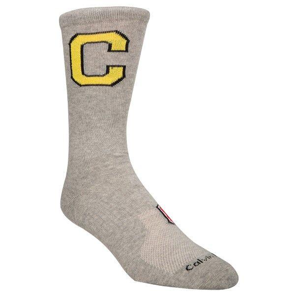 Image of Calvin Klein Omer Jeans Varsity Patch Socks - Grey  - Size: ECE236 - Color: harmaa