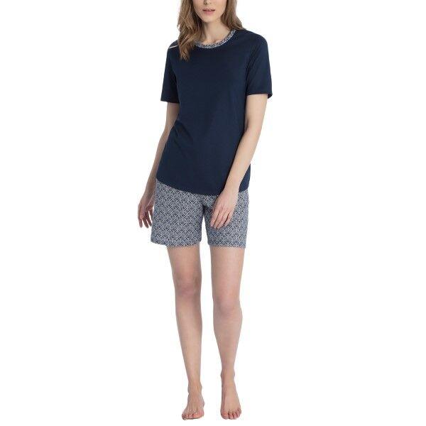 Calida Enya Short Pyjama - Blue Pattern
