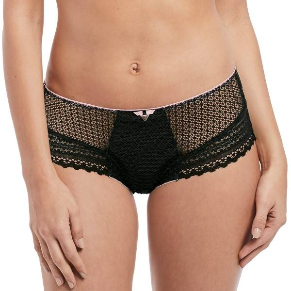 Freya Daisy Lace Short - Black  - Size: AA5136 - Color: musta