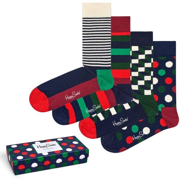 Happy socks 4 pakkaus Holiday Big Dot Gift Box - Mixed