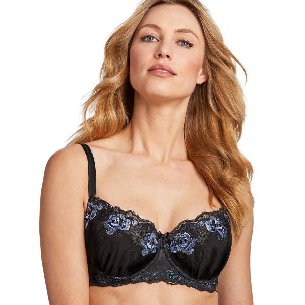 Miss Mary of Sweden Miss Mary Dremscape Underwire Balconette Bra - Black  - Size: 8005 - Color: musta