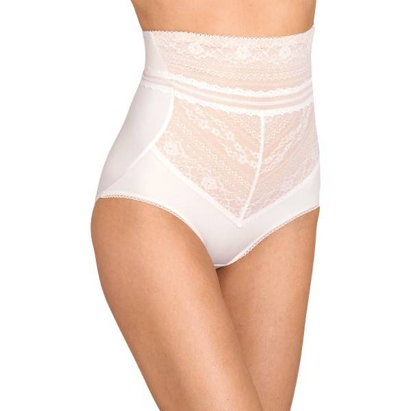 Miss Mary of Sweden Miss Mary Lace Vision High Waist Panty Girdle - White  - Size: 8404 - Color: valkoinen