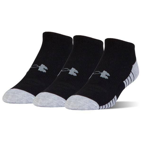 Under Armour 3 pakkaus HeatGear Tech No Show Socks - Black * Kampanja *  - Size: 1312439 - Color: musta
