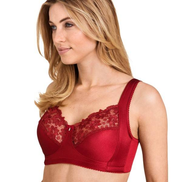 Miss Mary of Sweden Miss Mary Summer Soft Bra - Red  - Size: 2770 - Color: punainen