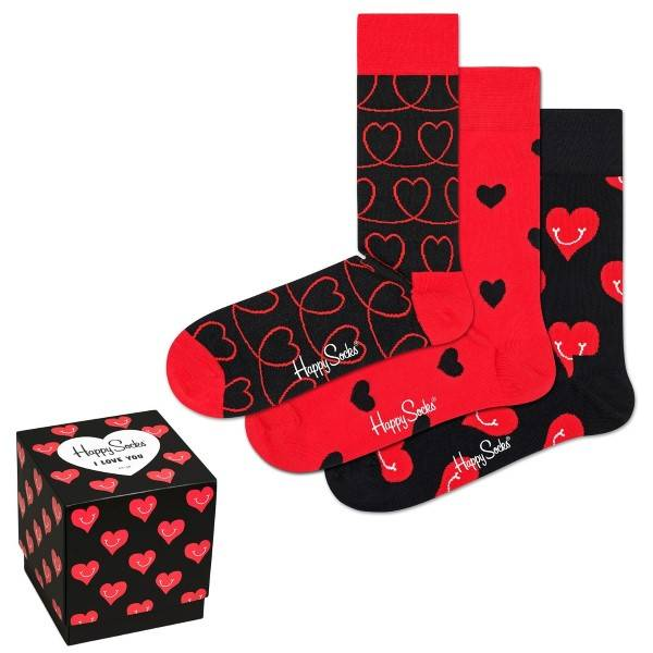 Happy socks Happys Socks I Love You Gift Box 3 pakkaus - Mixed  - Size: XLOV08-4300 - Color: Multi-colour