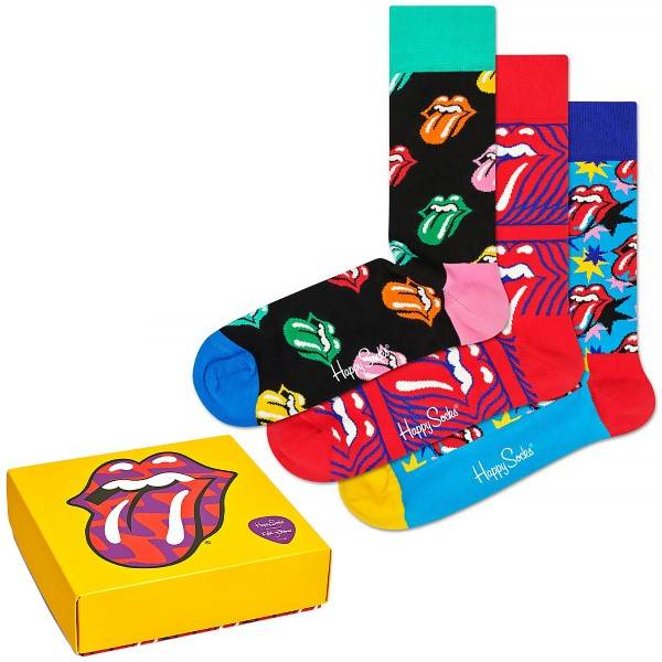 Happy socks 3 pakkaus Rolling Stones Sock Box Set - Mixed  - Size: XRLS08-010 - Color: Multi-colour
