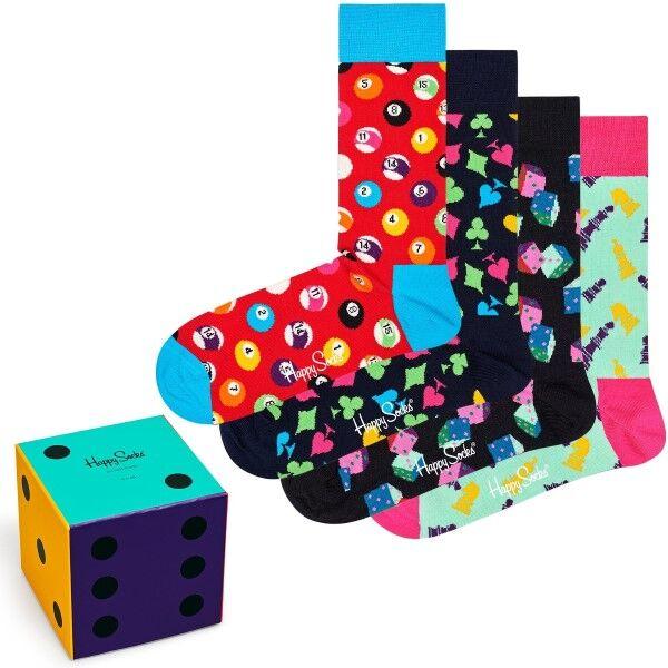 Happy socks 4 pakkaus Game Night Gift Box - Mixed  - Size: XGAM09-6300 - Color: Multi-colour