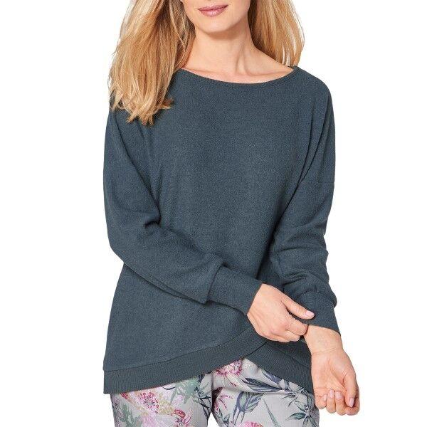 Triumph Lounge Me Cotton Climate Thermal Sweater - Petrol * Kampanja *  - Size: 10199581 - Color: Petroli
