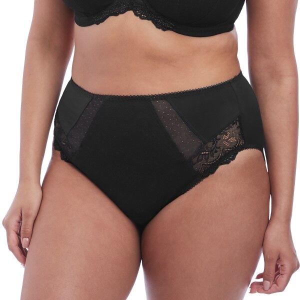Elomi Meredith High Leg Brief - Black  - Size: EL4445 - Color: musta