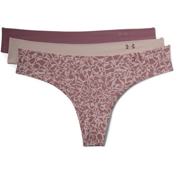 Under Armour 3 pakkaus Pure Stretch Thong Printed - Lilac Pattern  - Size: 1325617 - Color: Violetti kuviollinen