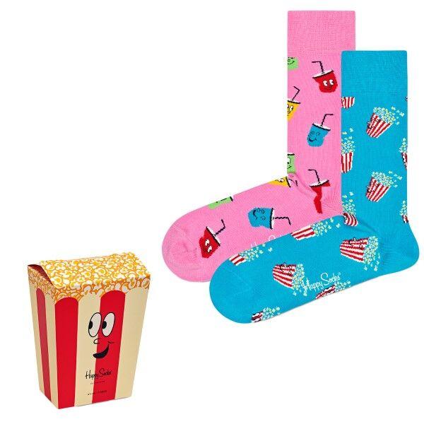 Happy socks 2 pakkaus Snacks Gift Box - Mixed  - Size: XSNA0 - Color: Multi-colour