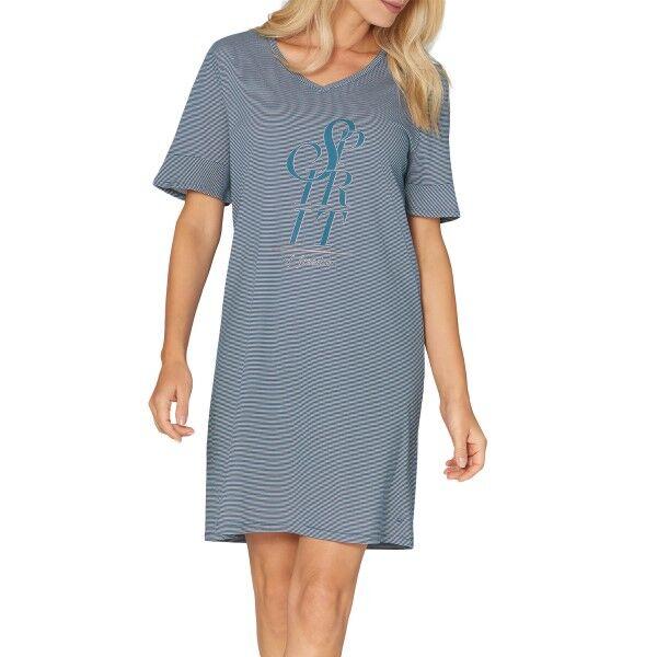 Triumph Lounge Me Cotton Nightdress NDK - Darkblue * Kampanja *  - Size: 10202376 - Color: tummansin.