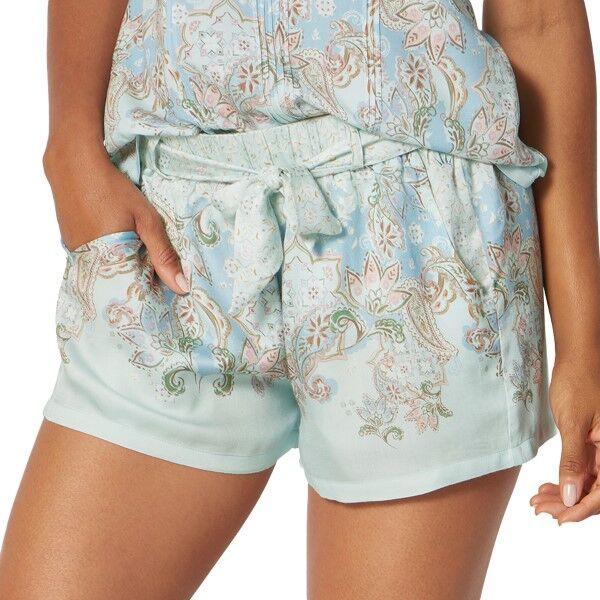 Triumph Lounge Me Natural Shorts - Blue Pattern * Kampanja *  - Size: 10202409 - Color: Sininen kuvioi