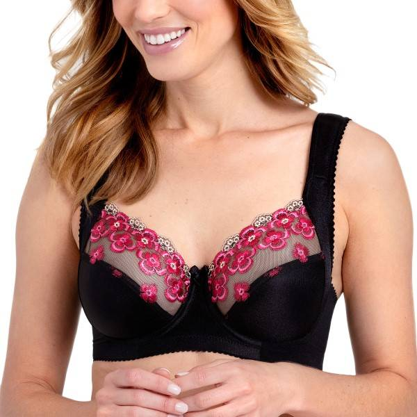 Miss Mary of Sweden Miss Mary Flora Underwired Bra - Black  - Size: 2143 - Color: musta