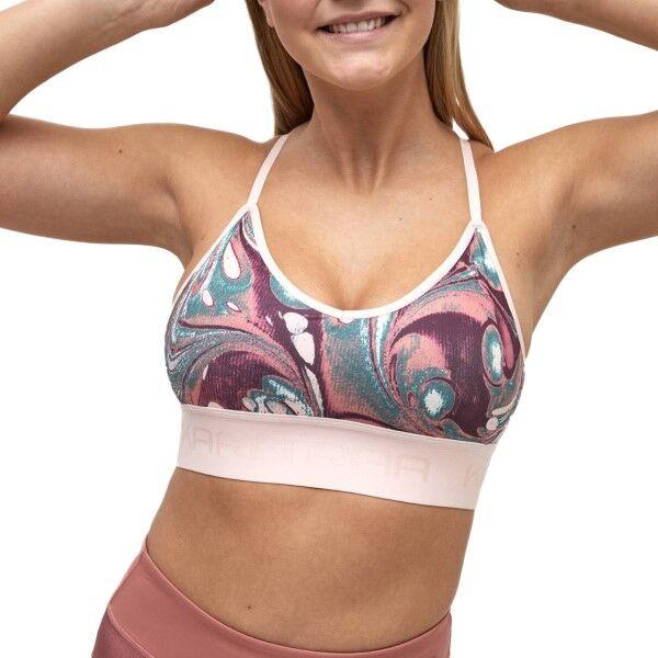 Kari Traa Var Sports Bra - Pink Pattern  - Size: 622484 - Color: vaal.pun.kuvio