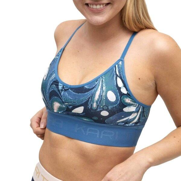 Kari Traa Var Sports Bra - Blue Pattern  - Size: 622484 - Color: Sininen kuvioi