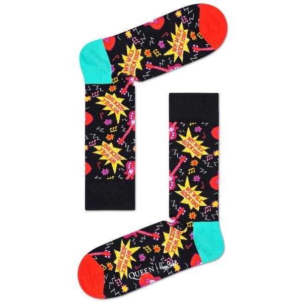 Happy Socks Queen Sock - Black pattern-2  - Size: QUE01 - Color: Musta kuviollinen