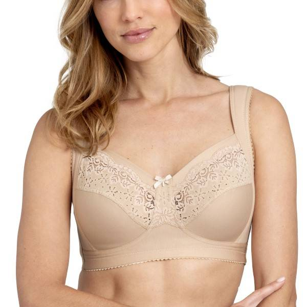 Miss Mary of Sweden Miss Mary Cotton Relax Soft Bra - Beige  - Size: 2527 - Color: Beige