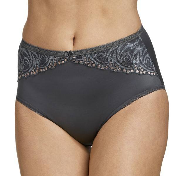 Miss Mary of Sweden Miss Mary Flames Panty - Darkgrey  - Size: 4667 - Color: tummanharm