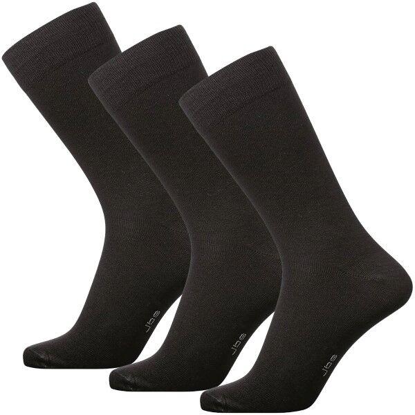JBS 3 pakkaus Socks - Black  - Size: 2000-75 - Color: musta
