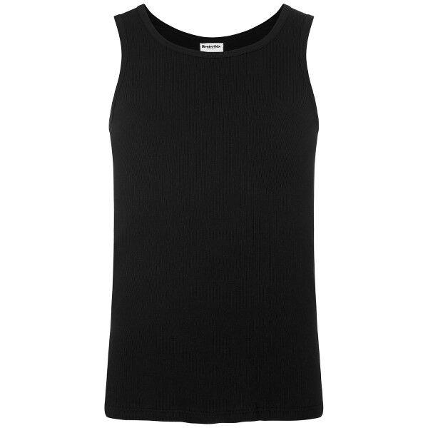 Resteröds Original Mens Rib Tank Black - Black  - Size: 7024-01 - Color: musta