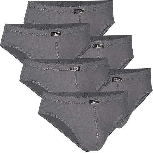 JBS 6 pakkaus Classic 14007 Mini Slip Brief - Grey * Kampanja *  - Size: 140 07 - Color: harmaa