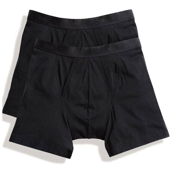 Fruit of the Loom 2 pakkaus Classic Boxer - Black