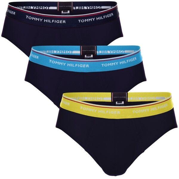 Tommy Hilfiger 3 pakkaus Stretch Brief Premium Essentials - Navy/Blue  - Size: UM01655 - Color: laiv.sin/sin