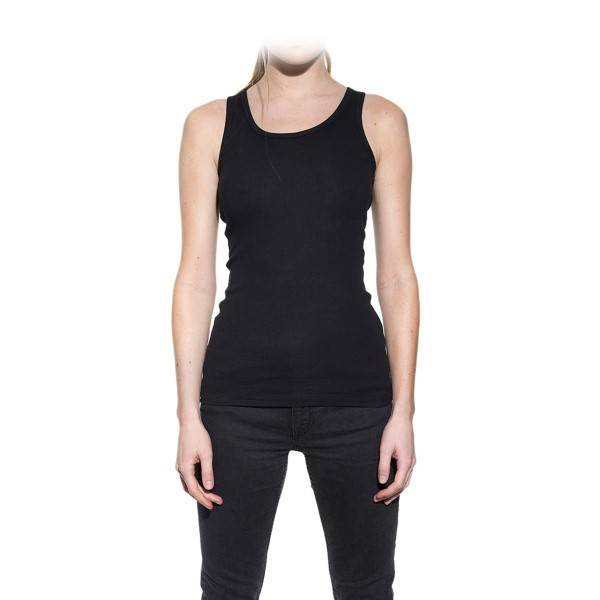 Bread & Boxers Bread and Boxers Tank Ribbed Woman - Black  - Size: 605302 - Color: musta