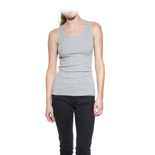 Bread & Boxers Bread and Boxers Tank Ribbed Woman - Grey  - Size: 605303 - Color: harmaa