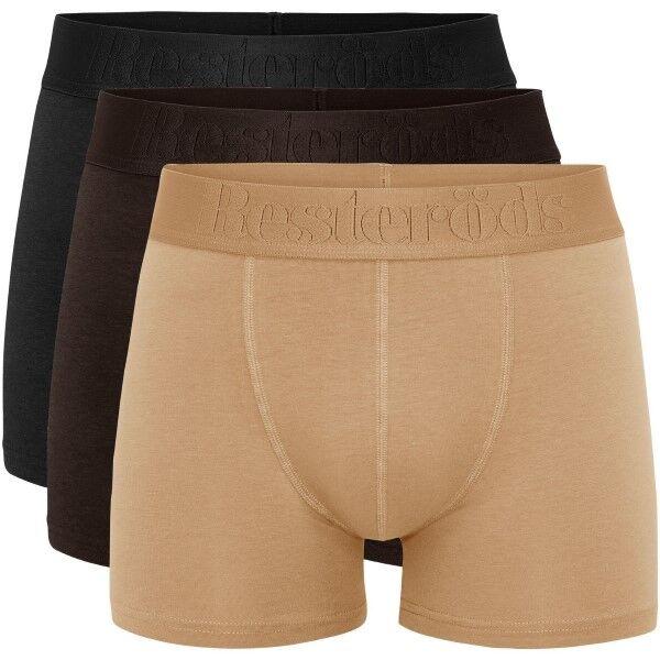 Resteröds 3 pakkaus Gunnar Bamboo - Black/brown  - Size: 7934-49 - Color: musta/ruskea
