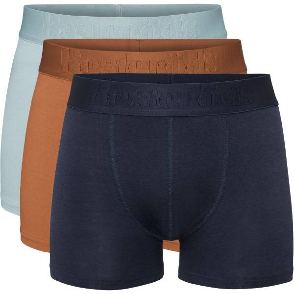 Resteröds 3 pakkaus Gunnar Bamboo - Blue/Orange  - Size: 7934-49 - Color: sininen/oranss