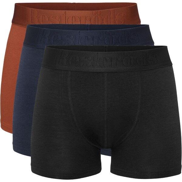 Resteröds 3 pakkaus Gunnar Bamboo - Orange/Darkblu  - Size: 7934-49 - Color: orans/tummans.