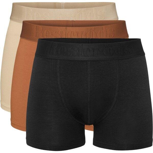 Resteröds 3 pakkaus Gunnar Bamboo - Black/Orange  - Size: 7934-49 - Color: musta/orans