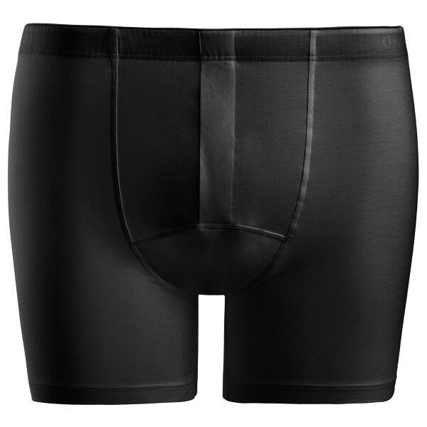 Hanro Cotton Superior Short-leg Boxer - Black
