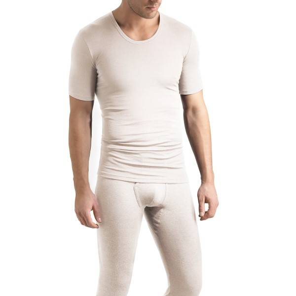 Hanro Woolen Silk Short-sleeved Shirt - White