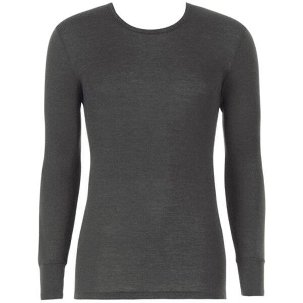 Hanro Woolen Silk Long-sleeved Shirt - Black