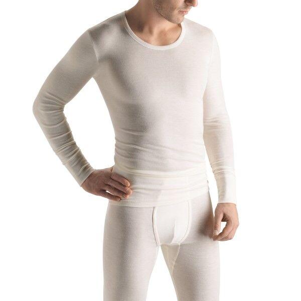 Hanro Woolen Silk Long-sleeved Shirt - White