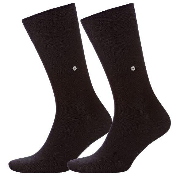 Burlington 2 pakkaus Everyday Cotton Sock - Black