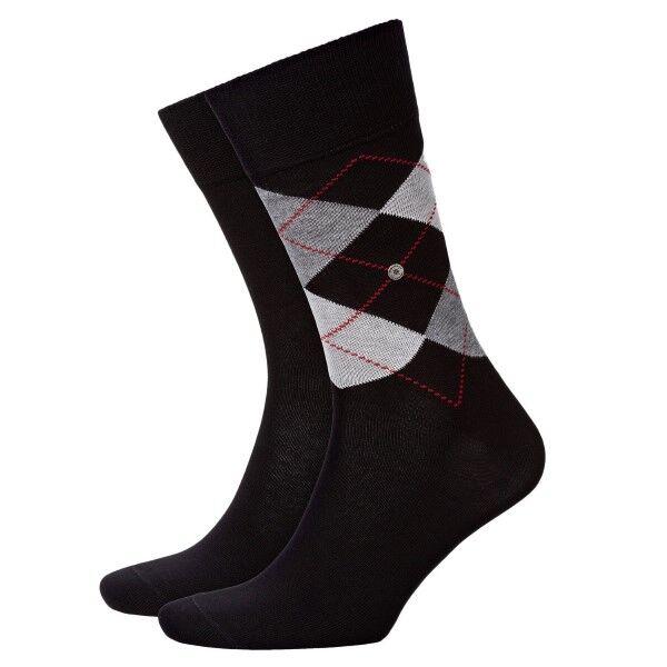 Burlington 2 pakkaus Everyday Mix Cotton Sock - Black