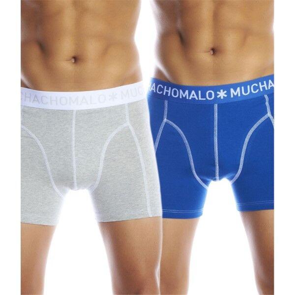 Muchachomalo 2 pakkaus Solid Boxer UPP2 - Blue/Grey