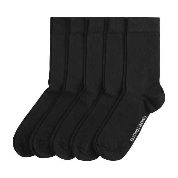 Björn Borg 5 pakkaus Essential Socks - Black  - Size: 9999-1069 - Color: musta