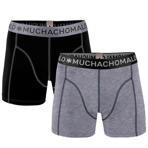 Muchachomalo 2 pakkaus Solid Boxer - Black/Grey